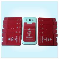 Cell phone card holder 3m ,wholesale cheaper mobile phone back card holder sticker ,custom logo cell phone case card hold