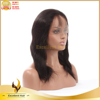 Two Tone 1B#/613# Celebrity Short Silky Straight Bob Glueless Full Lace Human Hair Wigs For African American