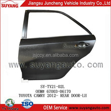 Auto Body Parts Rear/Back Door For Toyota Camry 2012-