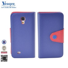 Veaqee 2015 new product leather flip smart cover case for samsung galaxy s4