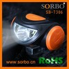 SORBO Factory Price CE Approved Super Brightness Outdoor Camping LED Headlight,Mini LED Flashlight Adjustable Focus Light Lamp
