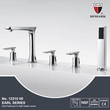 Contemporary deck mounted 5 hole bathtub mixer
