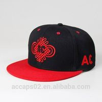 embroidery adjust snapback hats/custom plain snapback hat cap