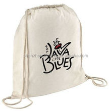2015 hight quality cheap 12oz black cotton canvas drawstring bag for 1 c printing MOQ is 500pcs