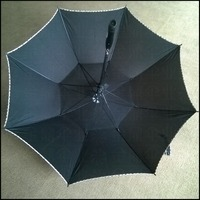 High quality led umbrella large size straight golf umbrellas with Electric fan ,Sun umbrella