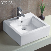 YJ9138 46x46cm Modern Square Ceramic Cheap Bathroom Vanity basins