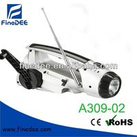 A309-02 Dynamo Cranking Radio LED Flashlight