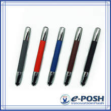 touch screen business gift leather mini style oem stylus ball pen