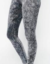 Acid Wash Grey Leggings Festival Dream Catcher Print Trousers