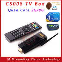 New arrival! CS008 Androi TV stick Video Supported 2GB/8GB RK3288 Quad Core 4K Android 4.4 TV Stick CS008 with Remote Control