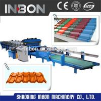 Step tile roofing sheet making machine