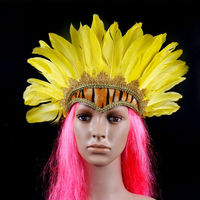 good quality Custom Manufacturer Carnival Feather Indian Headdress for sale