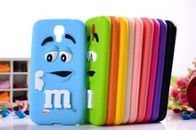 10 colors MM Milk Chocolate Cartoon Beans Lovely Silicone Silicon gel skin Cell Phone Case Cover for Samsung Galaxy S4 i9500