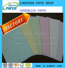Carbonless paper in sheets