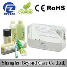 2015 NEW transparent cosmetic pouch, 3 piece cosmetic makeup toiletry clear pvc bag