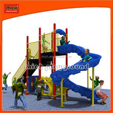 Outdoor Playground big slides/ rubber tiles 5201A