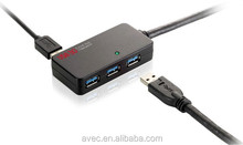10M Black Super Speed to 5Gbps 4-Port USB 3.0 HUB with Repeater Cable