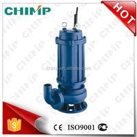 Chinese Supplier Chimp WQ 20HP Copper Wire Cast Iron Sewage Submersible Pump