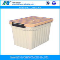 multipurpose colorful plastic storage box with wheels for household