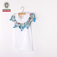 Kid clothes 2012 o-neck short outfit wholesale kids t shirts
