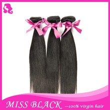Most Popular!! Natural Color Natural Straight Hair 100% Remy Bridal Hair Extensions From Brazilian