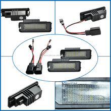 E-mark approved vw led license plate lights for golf 4 and polo with super bright 12 months warranty