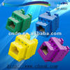 Colorful RJ45 Network Keystone Jack 8P8C CAT5 180 degree