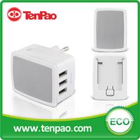 Leather Sensation Multiplug 3 port USB charger 5v