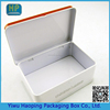 OEM Oblong Metal storage tin case biscuit cookie tin box card packaging tin case