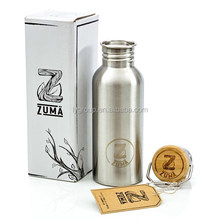 Klean Kanteen 27oz Reflect Mirror Stainless Steel Wide Bamboo Cap Water Bottle, wholesales stainless steel bottle with cap
