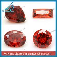 Different shape garnet semi precious stones, garnet CZ, garnet gems