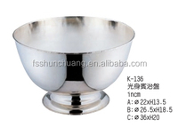 Round Stainless Steel Hotel Punch Bowl / Wine Ice Bucket / Chanpagne Ice Container