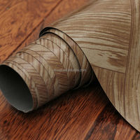 PVC floor covering/ vinyl roll with wear-resistance & water-resistance, embossed backing, printed wood
