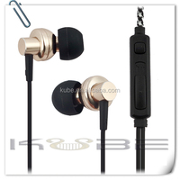 CE approved! custom in ear headphones with mic for iphone and all cell phone