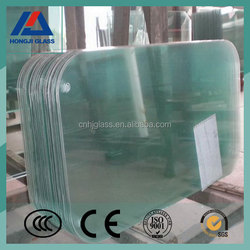 safety temoered glass with round hole and polishe edge