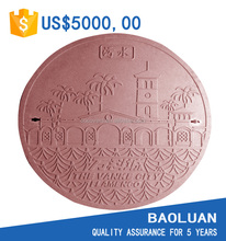 [BAOLUAN] vented manhole cover en124 B125 dia 600mm oem service