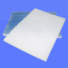 Blue and white filter media for air conditioner