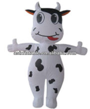 moving advertising inflatable cow cartoon for sale