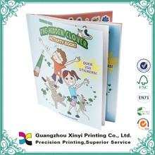 Custom new design softcover artpaper sticker lamination colorful manga books printing