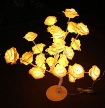Eco-friendly low voltage rose flower led christmas tree light