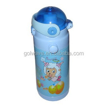 Promotional kid's sport water bottle with cartoon print , stainless steel bottle