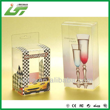 cajas de plástico transparente para el vidrio de vino