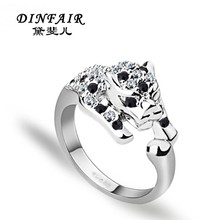 Fashion jewelry wholesale 18k gold plated leopard animal ring design for women