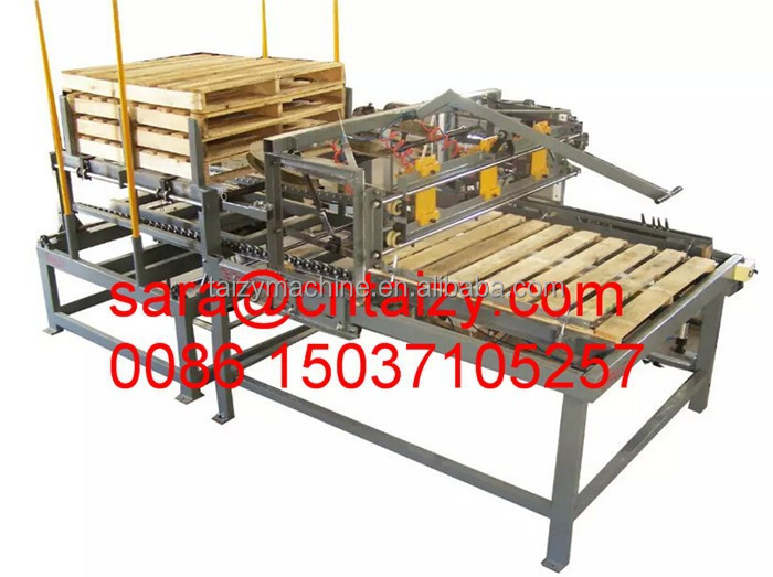 Stringer Pallet Nailing Machine Plywood Pallet Making Machine Euro ...
