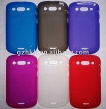 mobile phone case TPU Skin case for BlackBerry 9900 9930 bold matte inside gloss back