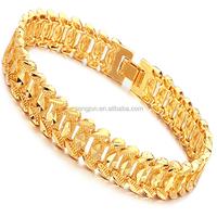 Men gold bracelet 18k new gold bracelet designs 18k gold bracelet