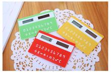 mini slim card solar power pocket calculator credit card size calculator pocket calculator