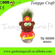 Precioso juguete kids hierba que kit growing grass head juguetes