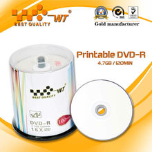 Printable DVDR 4.7GB Grade A+ Virgin Material