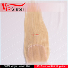 top grade 8A unprocessed virgin hair bundles with lace closure 613 blonde straight hair free parting lace closure